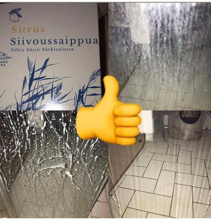 suihkukaapin lasi puhtaaksi ekologisesti saaren taika
